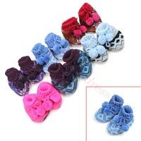 1 Pair Cute Unisex Jacquard Wool Anti-slip Toddler Socks Baby Shoes