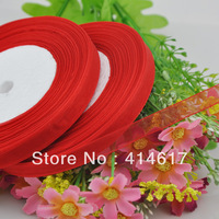 "100Y 3/8"" Sheer Organza Ribbon Craft/Wedding/sewing Red  RA136"