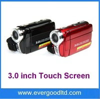 "16MP HD 720p digital video camera with 16X digital zoom 3.0"" touch screen and dual SD card slots DV-592D"