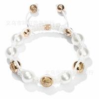 SB0143A Summer cheap shamballa bracelet with pearl, pearl shamballa bracelet
