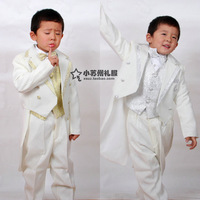 Free Shipping High-quatity boys blazer boys tuxedo children suit formal dress flower girl wedding set stage clothing set 7 pcs