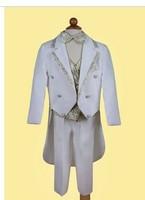Free Shipping boys blazers kids tuxedo 5 pcs coats and jackets for children clothing set wedding suit performance wear