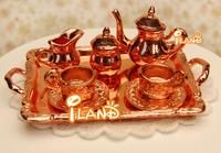 iland 1/12 Dollhouse Miniatures Tableware Kitchen Furniture Tea Set Coffee set 8 PCS DM002B