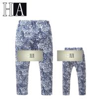 Girls New Year Garment  Children Foreign Trade Brand Blue Plus Velvet Leggings Kids Winter Warm High Quality Leggings 5 Pcs/Lot