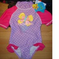 2014 New Girls Kids Bikini Batterfly Pattern Swimsuit  Bathing Swim Costume Retail  Size 3Mos,6Mos,36M