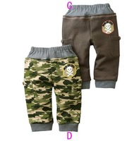 Wholesale Freeshipping 10pcs/lot Camouflage loop pile trousers children's pants baby trousers Camouflage pants e23