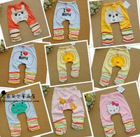 2014 Limited New Girls Wholesale Freeshipping 5pcs/lot Big Pp Pants Infant Baby Cartoon Graphic Patterns Trousers Child Legging