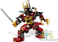 Cheap Educational Ninjago Samurai Mech Building Blocks Sets 452pcs Robot Building Block Toys Without Original box Free Shipping
