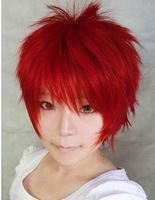 Sabaku no Gaara,Akashi Seijyuurou red anime short cosplay costume synthetic wig.stock.Free shipping Free Shipping