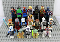 Building Block Super Heroes With Star War Mini Figures 20pcs Set Thor Dolls Xmen/Spiderman/Superman/Hulk/Iornman
