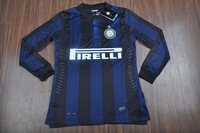 top thai quality inter milan Long Sleeve Soccer Jersey 13/14 inter milan home  soccer jersey  Football shirts jersey
