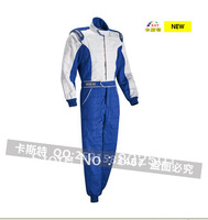 Free Shipping Go Kart Red Blue Sparco Racing Clothing  Overalls Racing Suits Kart Racing Suits Jumpsuit For Drift Race F1 Wear