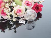 8PCS 20/25MM Dandelion Real Seed Glass Bulb Wish Necklace, Dandelion Seed Necklace Dandelion Necklace Make A Wish