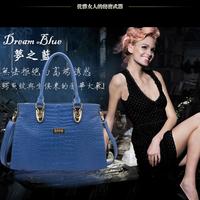 PU oppo  2013 crocodile pattern one shoulder cross-body handbag large bag fashion embossed 888-1