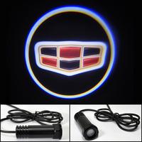 Car Led Door Lights for Geely Led Logo Light Led Welcome Light  Free Shipping