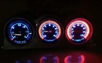 Freeshipping LED light car gauge car meter boost gauge ect  60mm 3pcs/lot