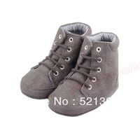 Gray Stylish Cool Military Boots Skidproof Outsole Toddler Baby Kids Shoes