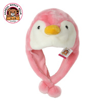 Autumn and winter child cartoon penguin warm hat plush toy animal hat baby gift