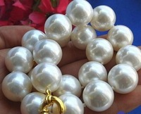 Charming!14mm south sea White Shell Pearl Necklace AAA MY2011