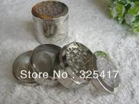 Retail 1pc Free shipping (dia 5.2cm) scuttle transparent 4-layer plastic herb grinder Tobacco Grinder Machine manual