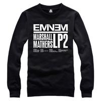I love eminem free shipping eminem hoodies sweatshirt Mmlp2 o-neck sweatshirt hiphop  a0052