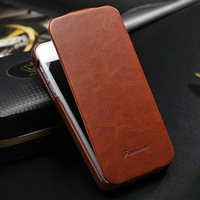 New Fashion Logo Leather Flip Case For iphone 5 5s Cover High Quanlity Luxury For iphone5 Cell Phone Cases Free Shipping