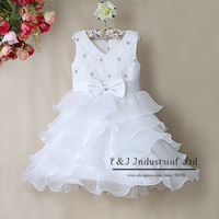 Arrival Baby girl Christmas Dress rose slip Dress Kid party girl layered Dress cotton and polyester dress GD31115-8