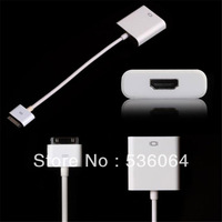 Dock Connector to AV HDMI Adapter Cable HDTV TV For iPad 2 3 iPhone 4/4S Free Shipping