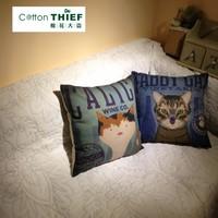 Kitten cartoon brief fluid sofa cushion pillow  with filling 45*45cm