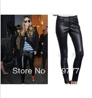 2013 NEW Fashion Women's Genuine Leather Hot Sale Pants Colorful Fashion Elegant Sheep Skin Tight Pencil Pants