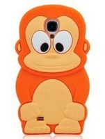 3d Cute Lovely Monkey Soft Silicone Rubber Gel Skin for Samsung Galaxy S4 Iv I9500