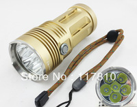 Portable 6T6 SKYRAY KING flashlights 6 x CREE XM-L T6 LED 8000 Lumen 3 Mode LED Flashlight Torch (Power 4 x 18650)