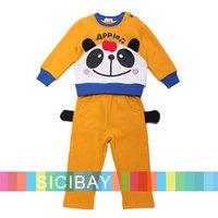 Panda Pattern Clothing Sets Baby Boy Winter Pants Outfits,Free Shipping   K4015