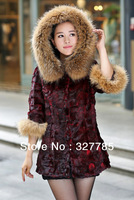 EMS Free Shipping New Genuine Natural Mink Fur Coat Women's Long Fur Jacket Winter Fur Waistcoat wholesale Big Size TF0513