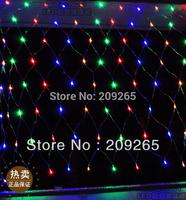 220V super bright net string light Christmas lights New year light wedding ceremony 2*2 m 144 Led 8 flash modes