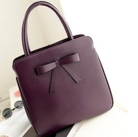 2013 retro package bowknot women genuine leather handbag shoulder messenger bag free shipping