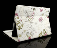 Original Retro Flower Envelope Flip Belts Book Stand Leather Cases Smart Cover For Apple ipad mini 2 3 4 5 Air Protector 0852