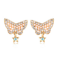 Accessories pearl stud earring female earrings fashion vintage crystal