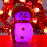 Luminous Christmas christmas snowman desktop counter decoration light-up toy Christmas gift