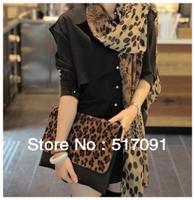 Fashion Women Shawl Ladies Scarf  Neckerchief Muffle Designs Sexy Leopard Scarves Free Shipping