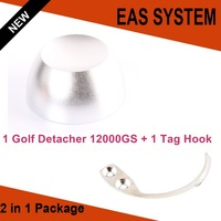1pcs Universal magnetic detacher superlock golf detacher 12000gs+ 1pcs EAS hook detacher