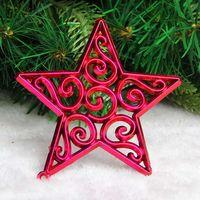 Christmas tree decoration five-star 8cm five-pointed star decoration christmas gift