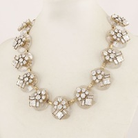 2013 New Arrival Resin Crystal White jc necklace top quality