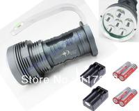 FREE DHL SKYRAY King 8500lm Lumen 6x CREE XM-L 6T6 LED Flashlight Torch 40W LED Lamp + 4pcs 18650 + 2pcs Dual Charger