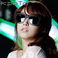 Free shipping Sunglasses female fashion vintage black sunglasses male anti-uv sunglasses