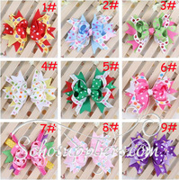 20pcs Baby Bowknot Hair Clips Fashion Girl Clips Children Hairpins Kids Hair Accessory Clips Photo Props  Free Shipping TS-0188