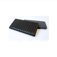 New leather wallets tide long hand folding wallet bag mail hand-woven sheepskin
