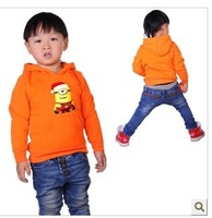 Despicable me 2 monocular Minions Christmas  Children's Clothing with Hoodies & Sweatshirts