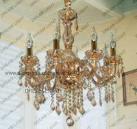 crystal pendant candle lamp/ k9 crystal 8 lighting crystal pendant lighting lamp/ free shipping