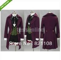 New Black Butler II 2 Alois Trancy Cosplay Costume Anime Garment Clothes Purple